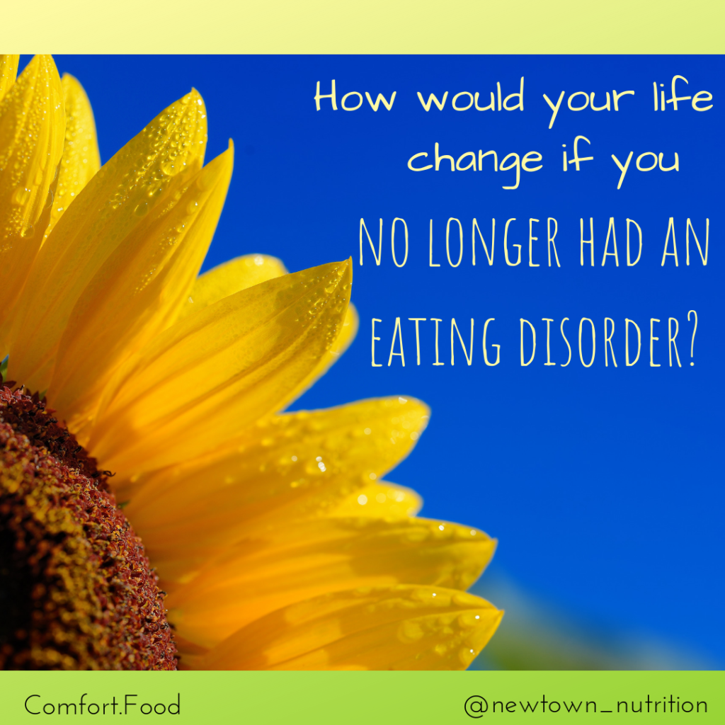 How would your life change if you no longer had an Eating Disorder?